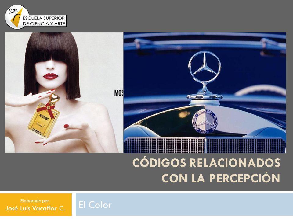 CÓDIGOS RELACIONADOS CON LA PERCEPCIÓN El Color Elaborado por: José Luis Vacaflor C.