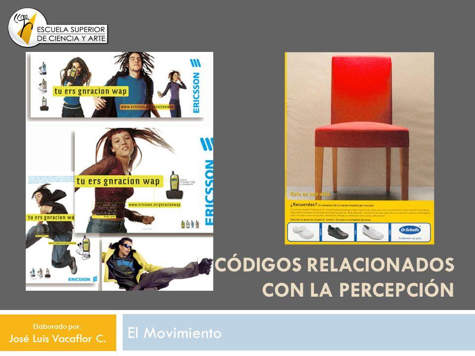 CÓDIGOS RELACIONADOS CON LA PERCEPCIÓN El Movimiento Elaborado por: José Luis Vacaflor C.