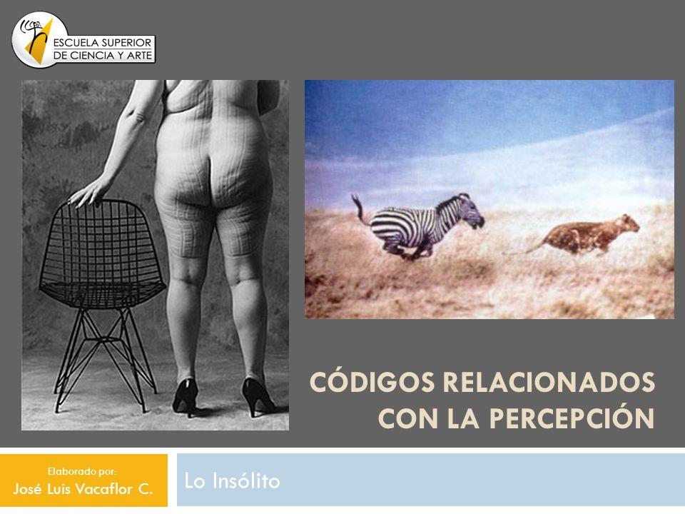 CÓDIGOS RELACIONADOS CON LA PERCEPCIÓN Lo Insólito Elaborado por: José Luis Vacaflor C.