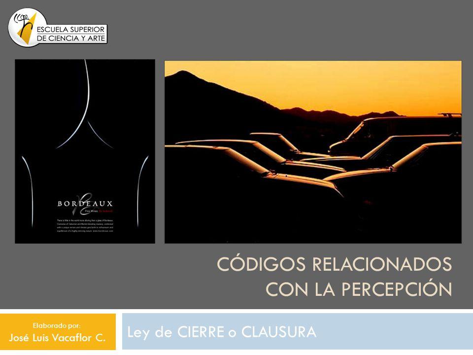 CÓDIGOS RELACIONADOS CON LA PERCEPCIÓN Ley de CIERRE o CLAUSURA Elaborado por: José Luis Vacaflor C.