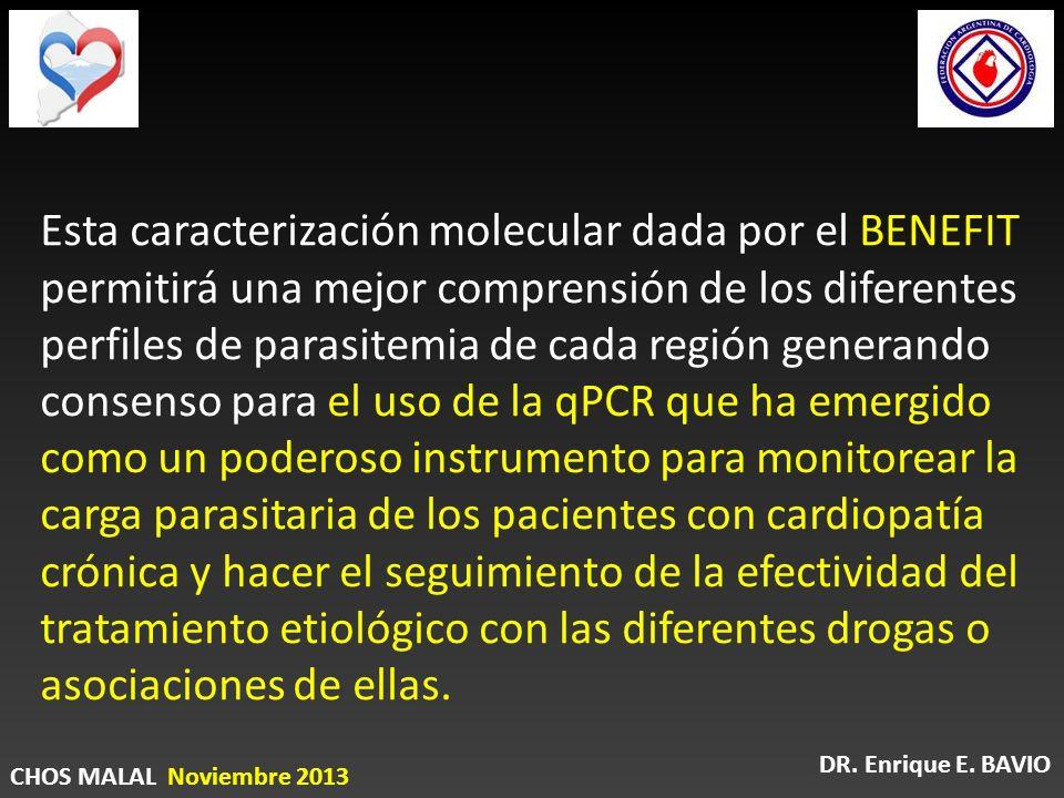 Esta caracterización molecular dada por el BENEFIT permitirá una mejor comprensión de los diferentes perfiles de parasitemia de cada región generando