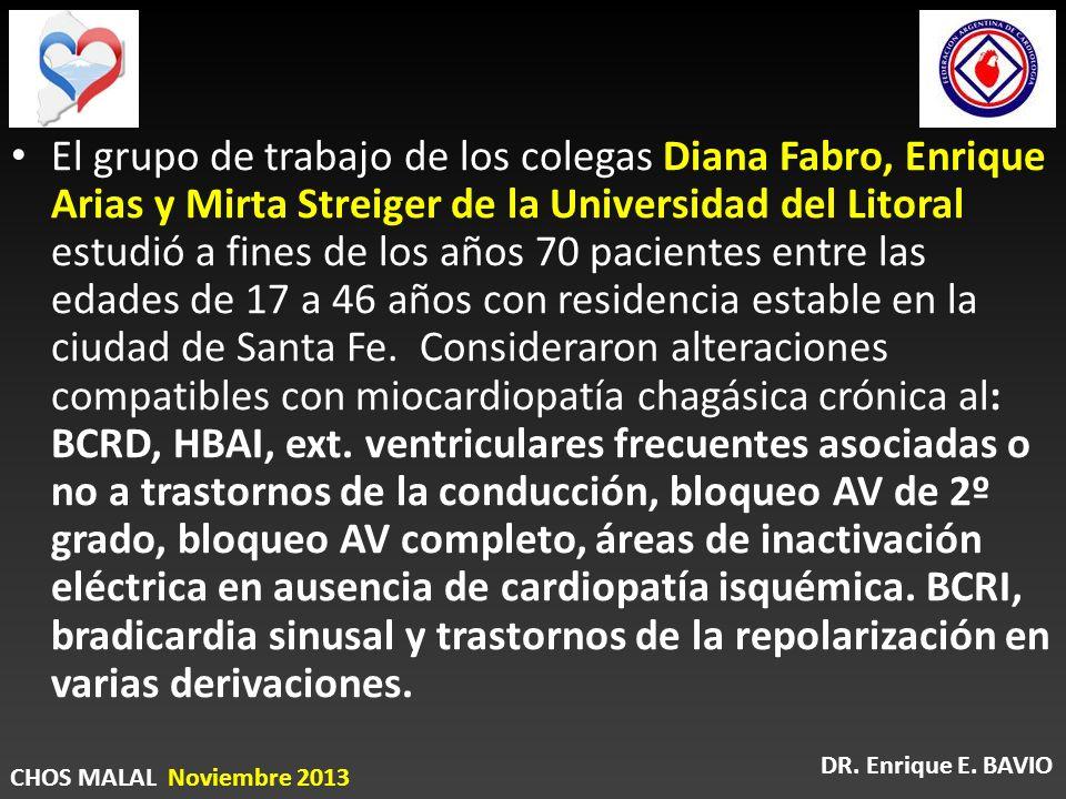 El grupo de trabajo de los colegas Diana Fabro, Enrique Arias y Mirta Streiger de la Universidad del Litoral estudió a fines de los años 70 pacientes