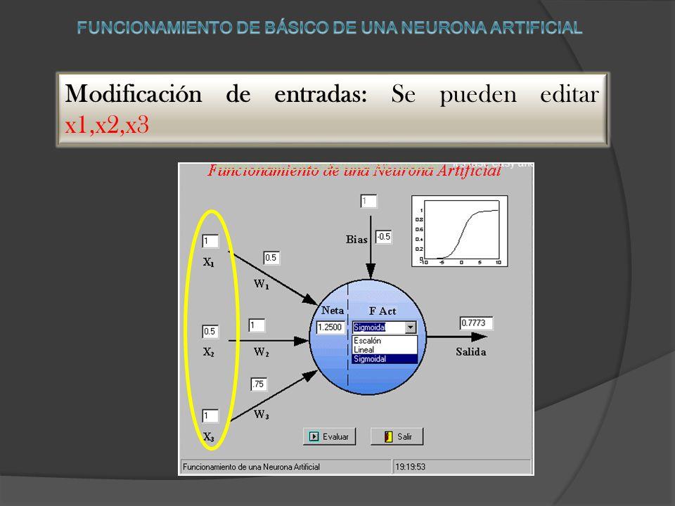 Esta aplicación nos permite comprender como es el funcionamiento de una neurona artificial. El usuario puede variar el valor de los pesos, el valor de