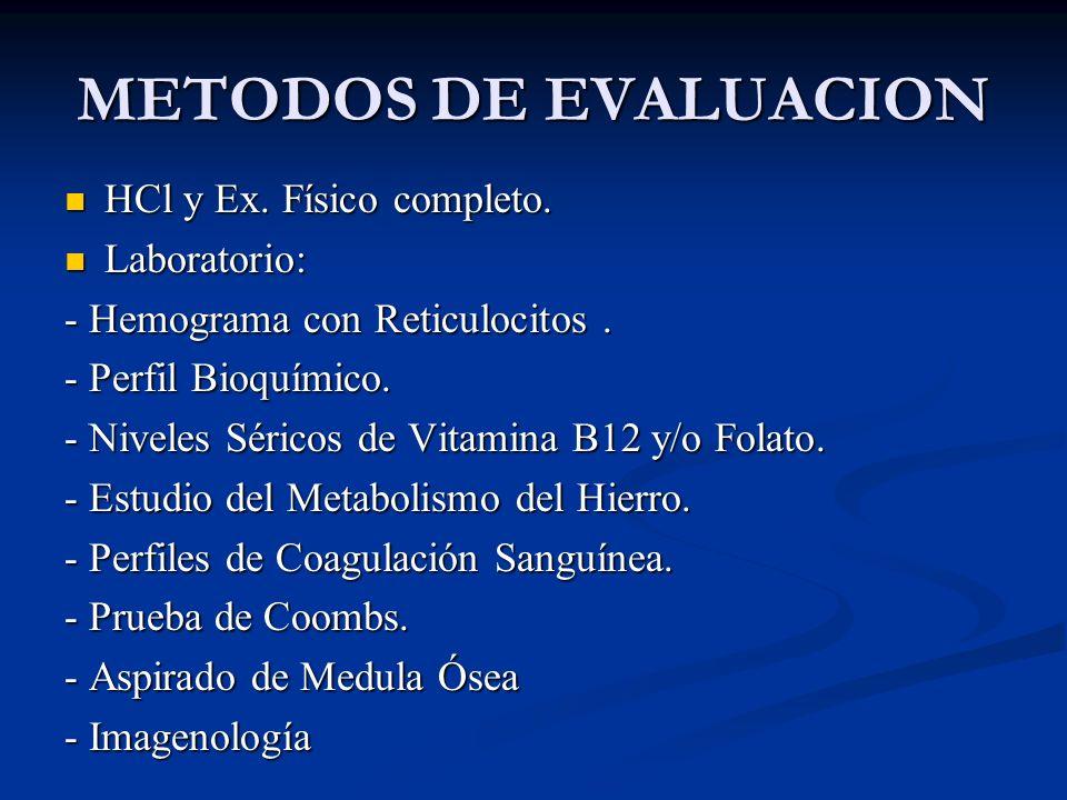METODOS DE EVALUACION HCl y Ex.Físico completo. HCl y Ex.