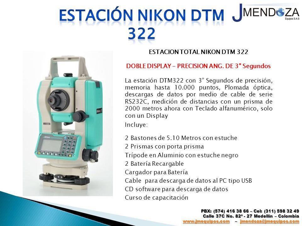 ESTACION TOTAL NIKON DTM 322 DOBLE DISPLAY - PRECISION ANG. DE 3