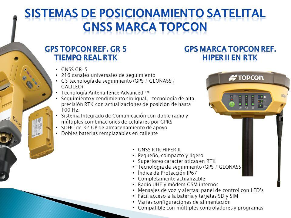 GNSS RTK HIPER II Pequeño, compacto y ligero Superiores características en RTK Tecnología de seguimiento (GPS / GLONASS Índice de Protección IP67 Comp