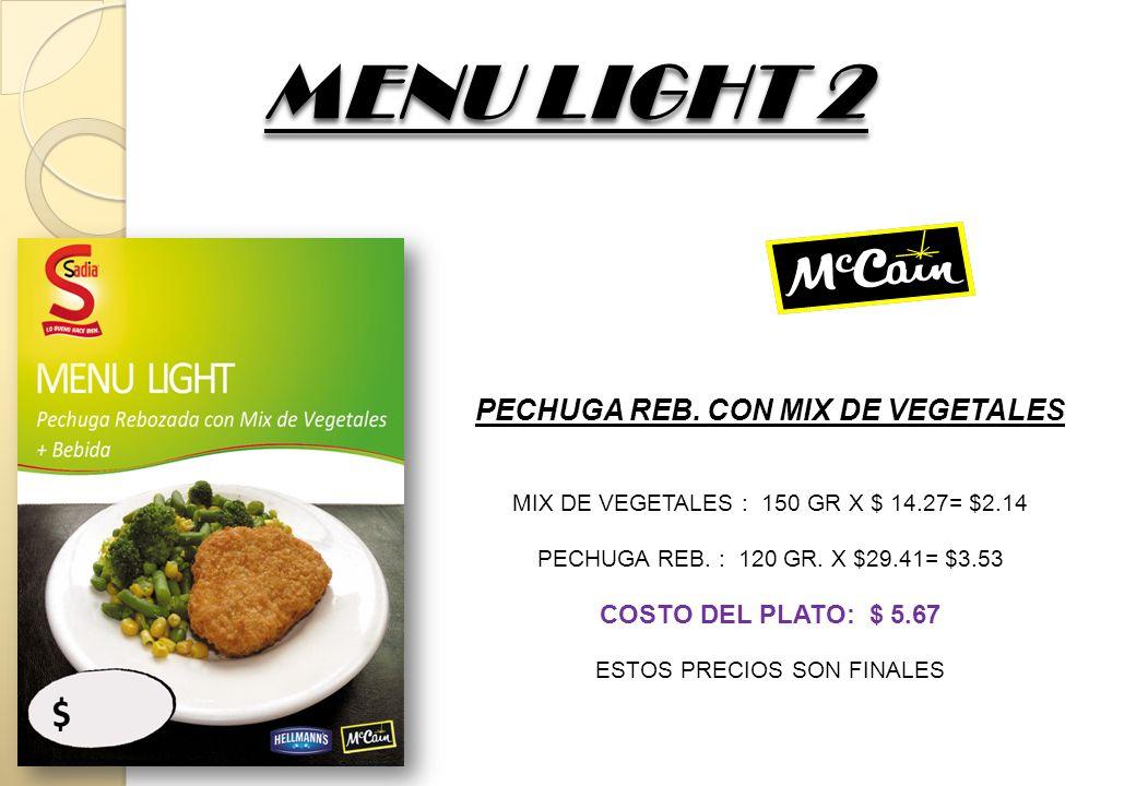 MENU LIGHT 3 MENU LIGHT 3 PATA REB.