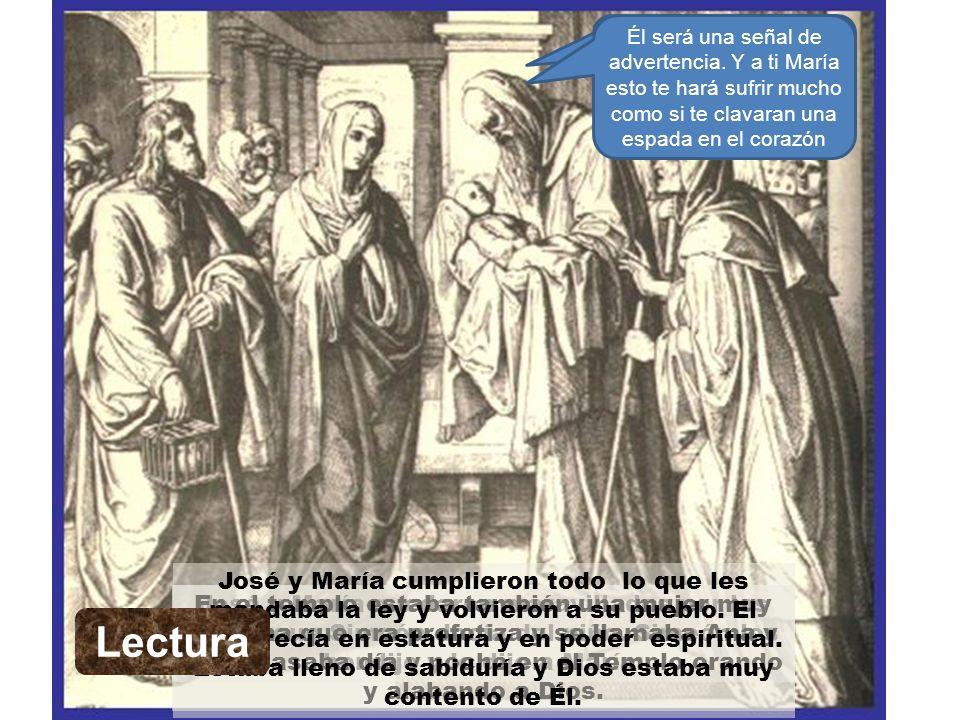 Meditación José y María fueron al templo a cumplir con lo que ordenaba la ley.