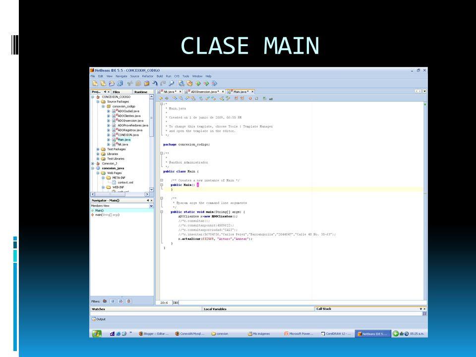 CLASE MAIN