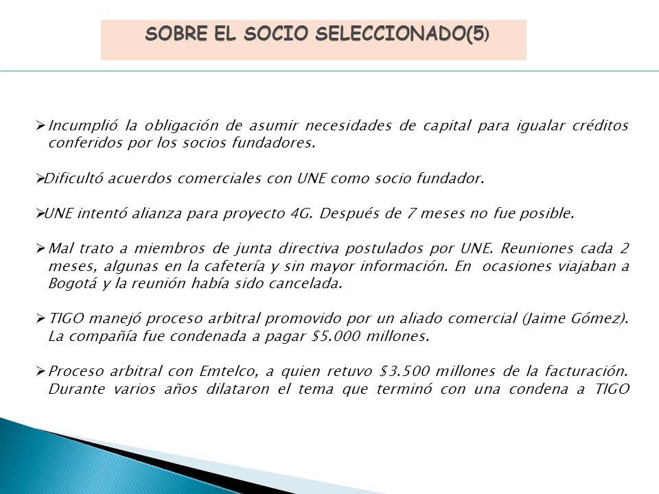 Incumplió la obligación de asumir necesidades de capital para igualar créditos conferidos por los socios fundadores.