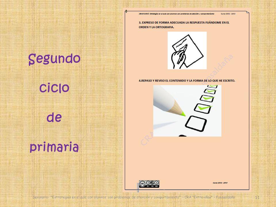 11 Seminario: Estrategias en el aula con alumnos con problemas de atención y comportamiento - CRA Entreviñas - Fuensaldaña Segundo ciclo de primaria