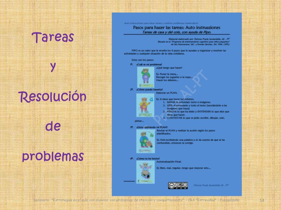 14 Seminario: Estrategias en el aula con alumnos con problemas de atención y comportamiento - CRA Entreviñas - Fuensaldaña Tareas y Resolución de problemas