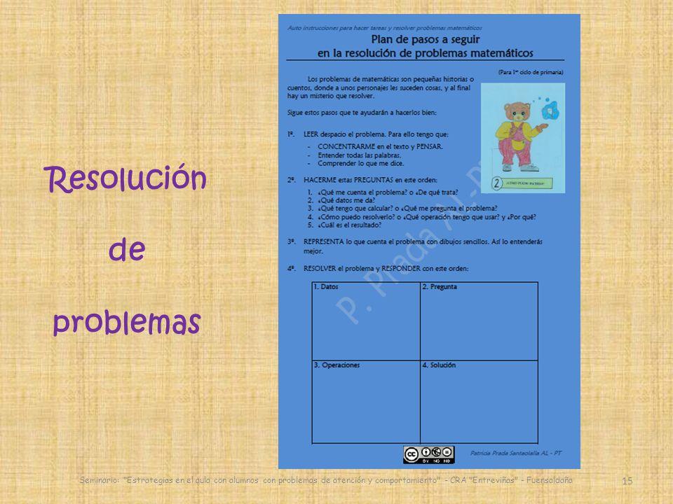 15 Seminario: Estrategias en el aula con alumnos con problemas de atención y comportamiento - CRA Entreviñas - Fuensaldaña Resolución de problemas