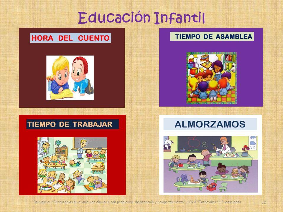 20 Seminario: Estrategias en el aula con alumnos con problemas de atención y comportamiento - CRA Entreviñas - Fuensaldaña Educación Infantil