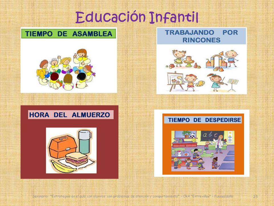 23 Educación Infantil Seminario: Estrategias en el aula con alumnos con problemas de atención y comportamiento - CRA Entreviñas - Fuensaldaña