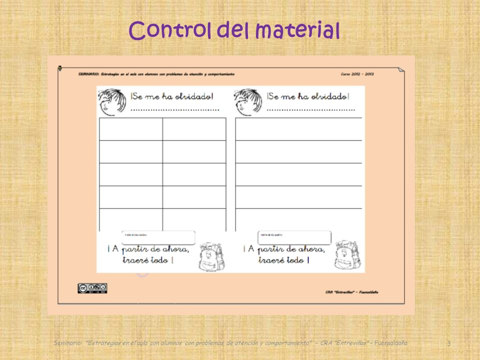 3 Control del material
