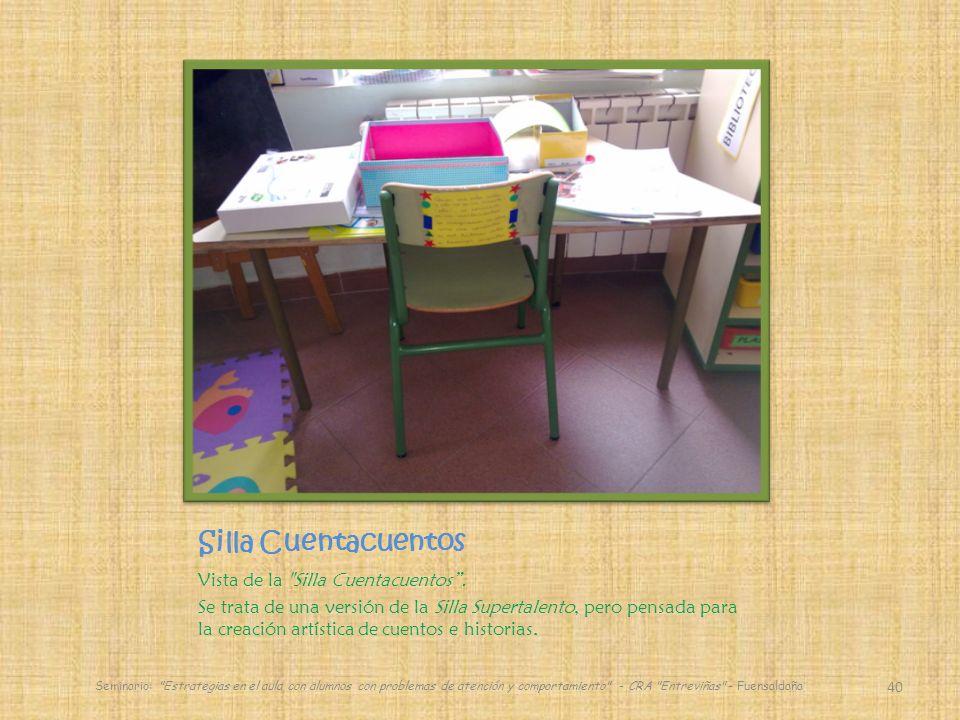 Silla Cuentacuentos Vista de la Silla Cuentacuentos.