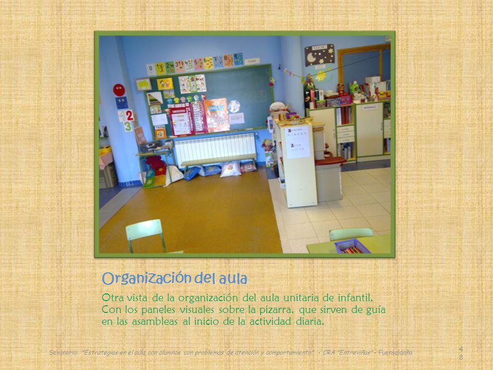Organización del aula Otra vista de la organización del aula unitaria de infantil.