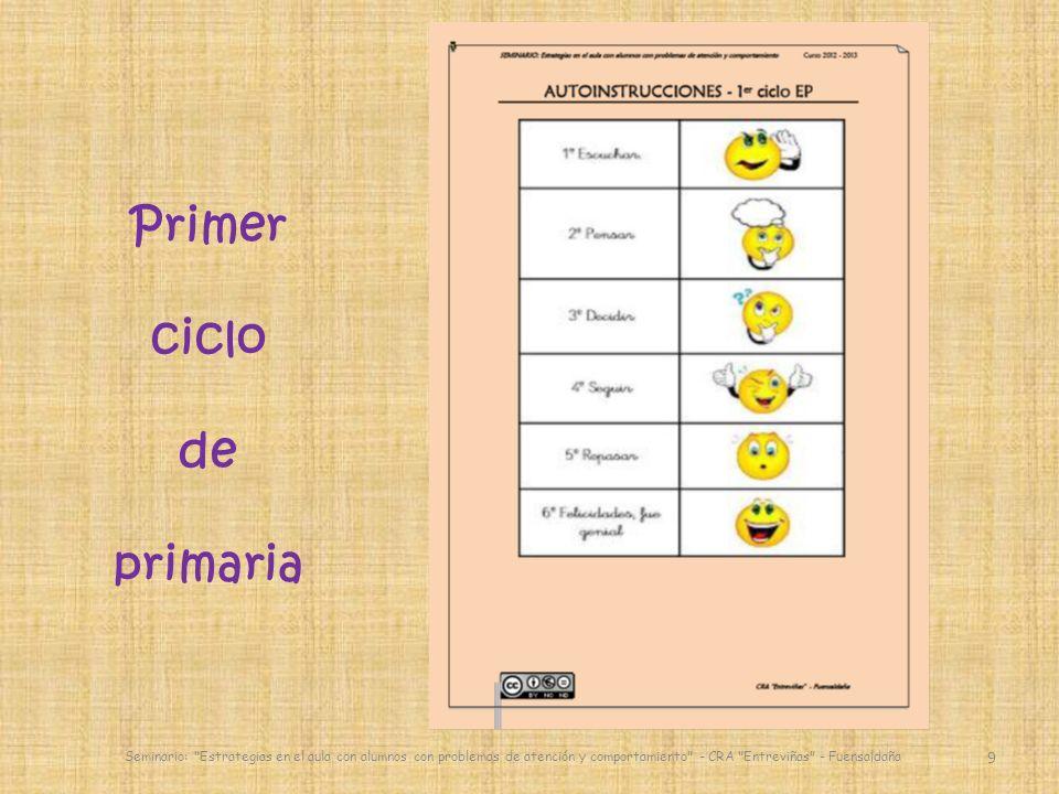 30 English activities Seminario: Estrategias en el aula con alumnos con problemas de atención y comportamiento - CRA Entreviñas - Fuensaldaña