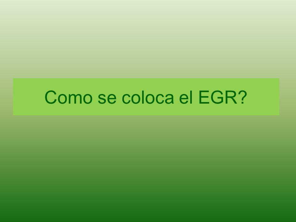 Como se coloca el EGR?