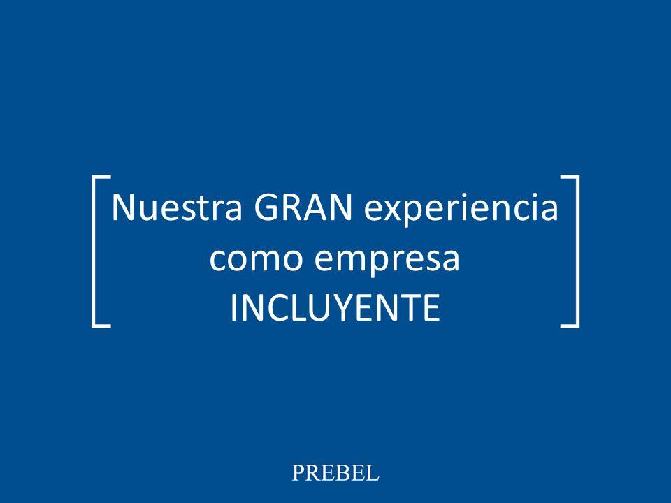 PREBEL Nuestra GRAN experiencia como empresa INCLUYENTE