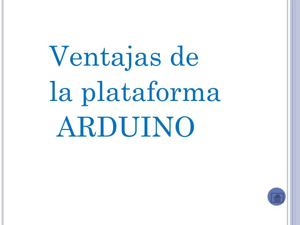 Ventajas de la plataforma ARDUINO