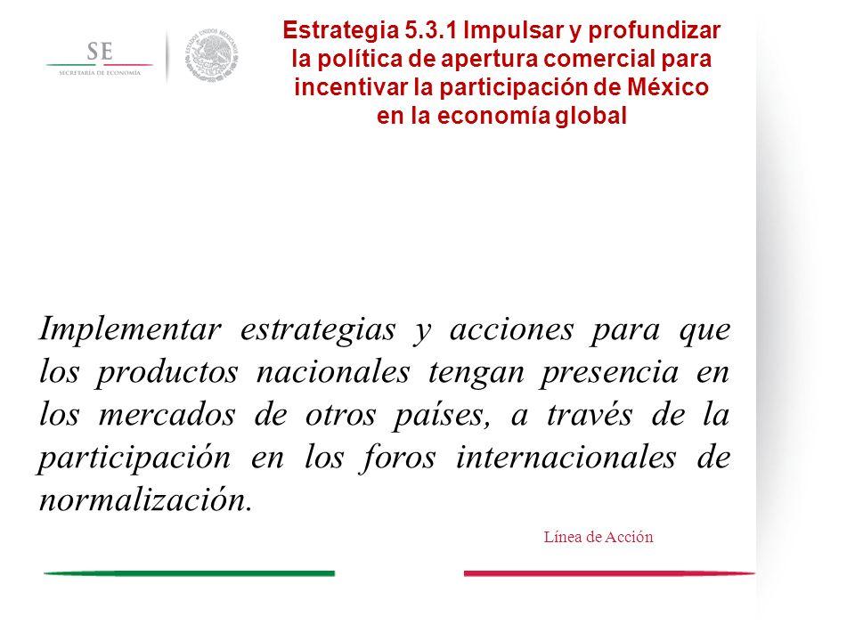 Implementar estrategias y acciones para que los productos nacionales tengan presencia en los mercados de otros países, a través de la participación en