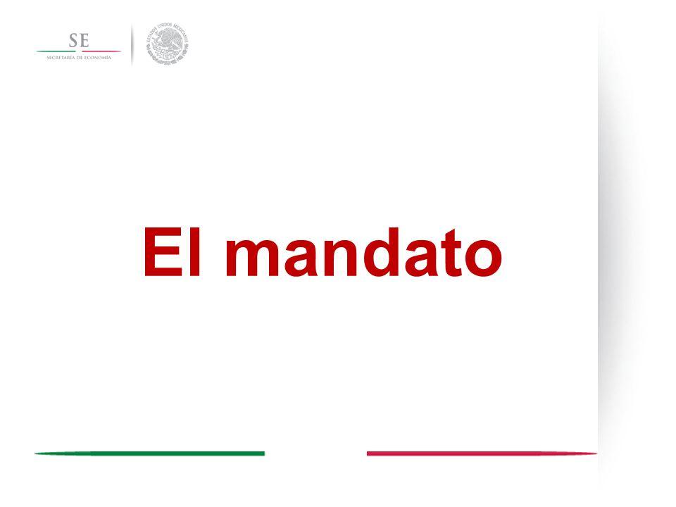 VI.4 México Próspero …es fundamental garantizar reglas claras que incentiven el desarrollo de un mercado interno competitivo, donde la principal fuente de diferenciación entre las empresas radique en la calidad y precio de sus productos y servicios.