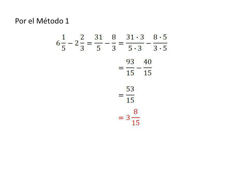 Por el Método 1