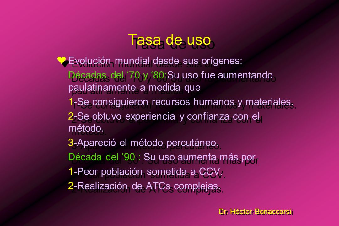 Dr. Héctor Bonaccorsi n = 141 73 59 9