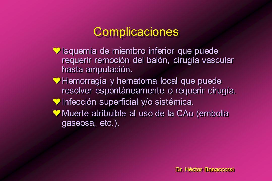 Dr. Héctor Bonaccorsi (Indicaciones Quirúrgicas) n = 141 8 65 38 25 5