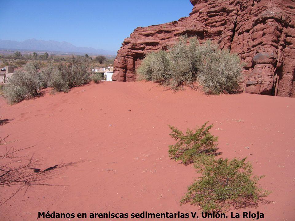 Médanos en areniscas sedimentarias V. Unión. La Rioja