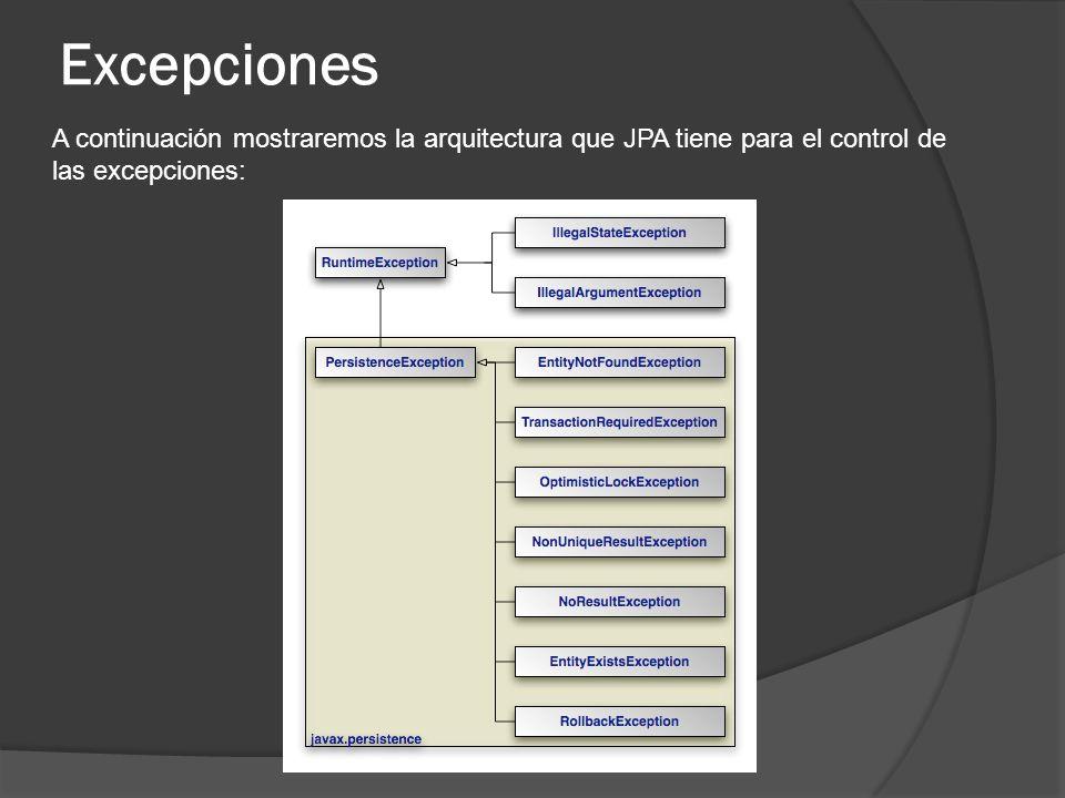 Java Persistence Query Language (JPQL) GROUP BY hql> Select t.tienda,SUM (t.ganancia) From TiendaInfo t GROUP BY t.tienda El resultado de esta consulta es una Lista de Objects de tipo arreglo (Object[ ]) Ejemplo: Query q=entityManager.createQuery( Select t.tienda,SUM (t.ganancia) From TiendaInfo t GROUP BY t.tienda ); List lista =q.list(); For(Object obj : lista){ Object[ ] listaObjetos=(Object[ ])obj; //donde la posicion 0 es igual a t.tienda //la posicion 1 es igual a SUM ( t.ganancia ) }