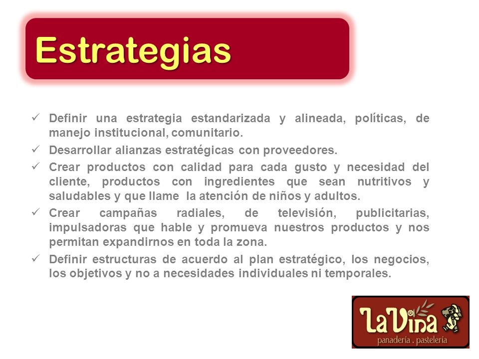 Estrategias Buscar personal especializado en gestión ambiental. Capacitar en procesos de cambio y fortalecer la flexibilidad. Concientizar en el perso