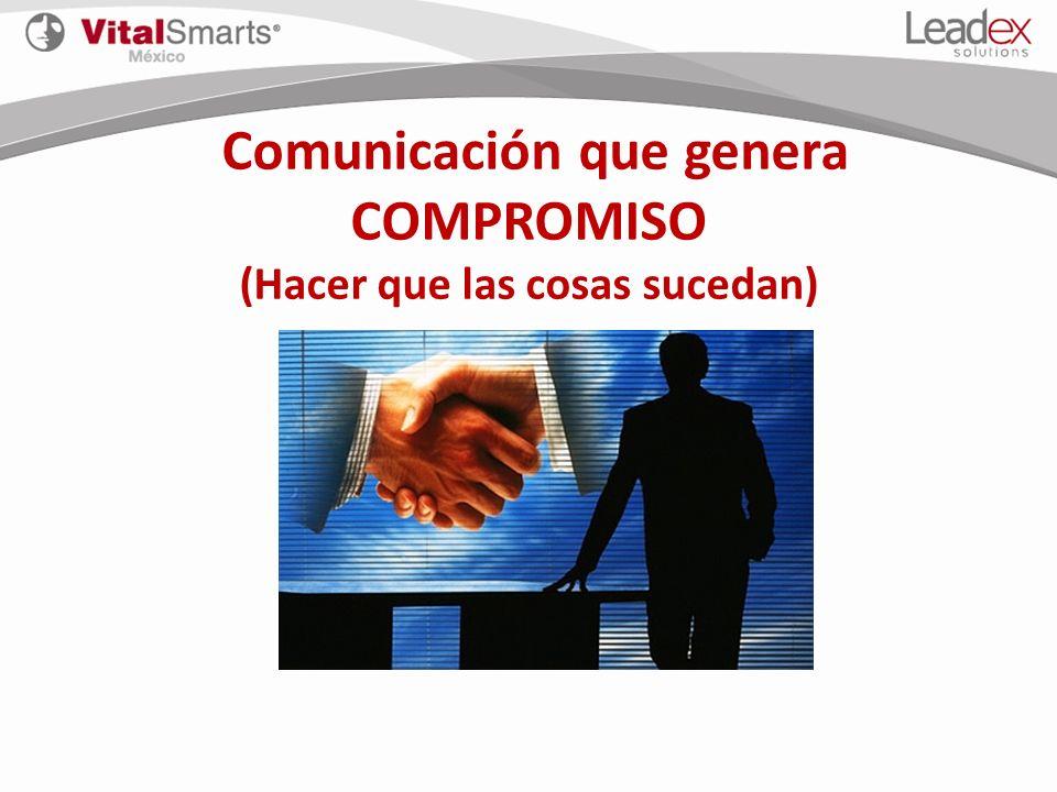 Comunicación que genera COMPROMISO (Hacer que las cosas sucedan)