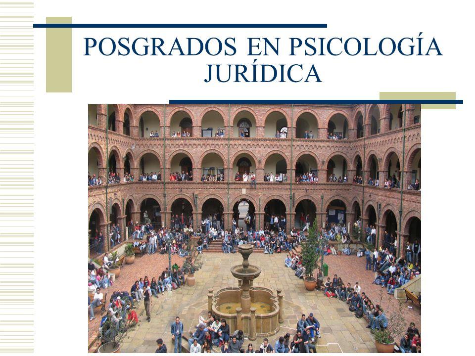 POSGRADOS EN PSICOLOGÍA JURÍDICA