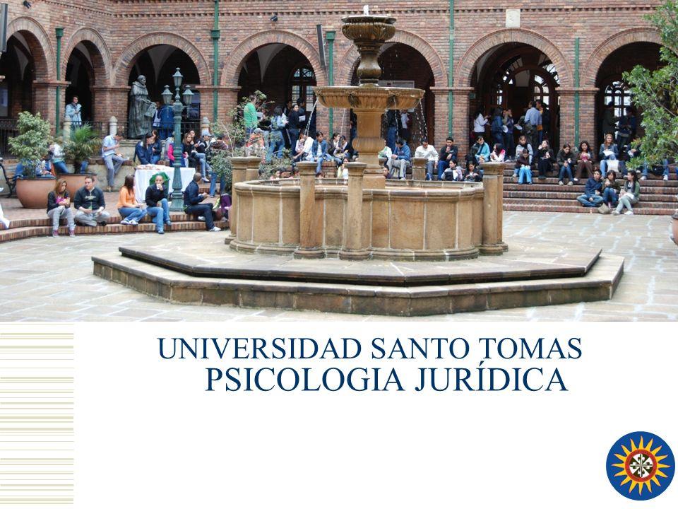 PSICOLOGIA JURÍDICA UNIVERSIDAD SANTO TOMAS