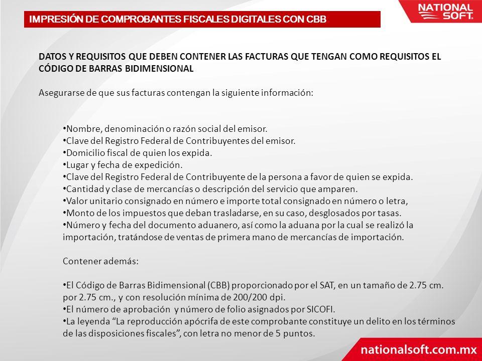 PROCEDIMIENTO PARA OBTENER EL CODIGO DE BARRA BIDIMENSIONAL I.