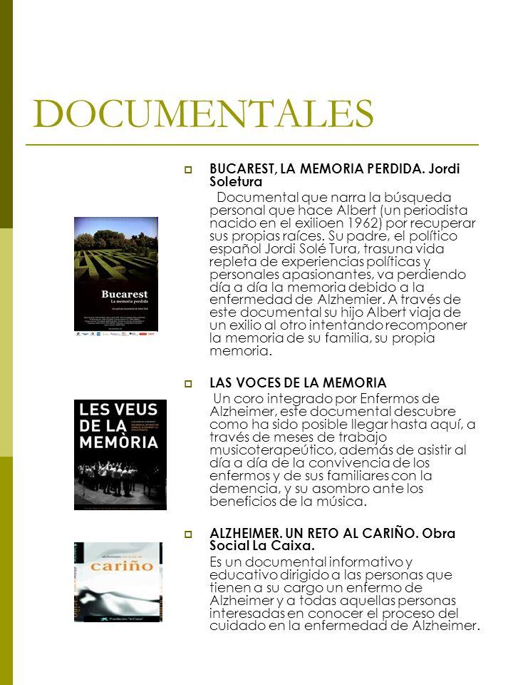 DOCUMENTALES BUCAREST, LA MEMORIA PERDIDA. Jordi Soletura Documental que narra la búsqueda personal que hace Albert (un periodista nacido en el exilio