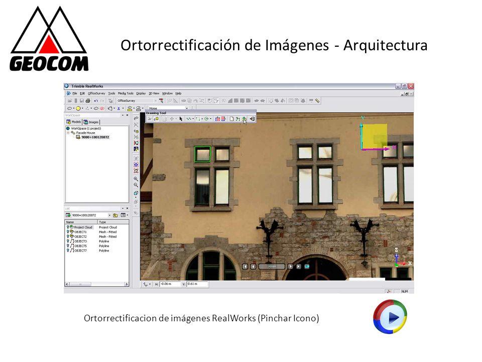 Ortorrectificación de Imágenes - Arquitectura Ortorrectificacion de imágenes RealWorks (Pinchar Icono)