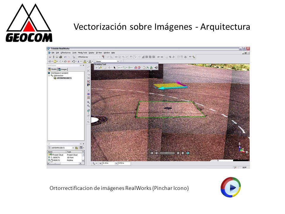 Vectorización sobre Imágenes - Arquitectura Ortorrectificacion de imágenes RealWorks (Pinchar Icono)