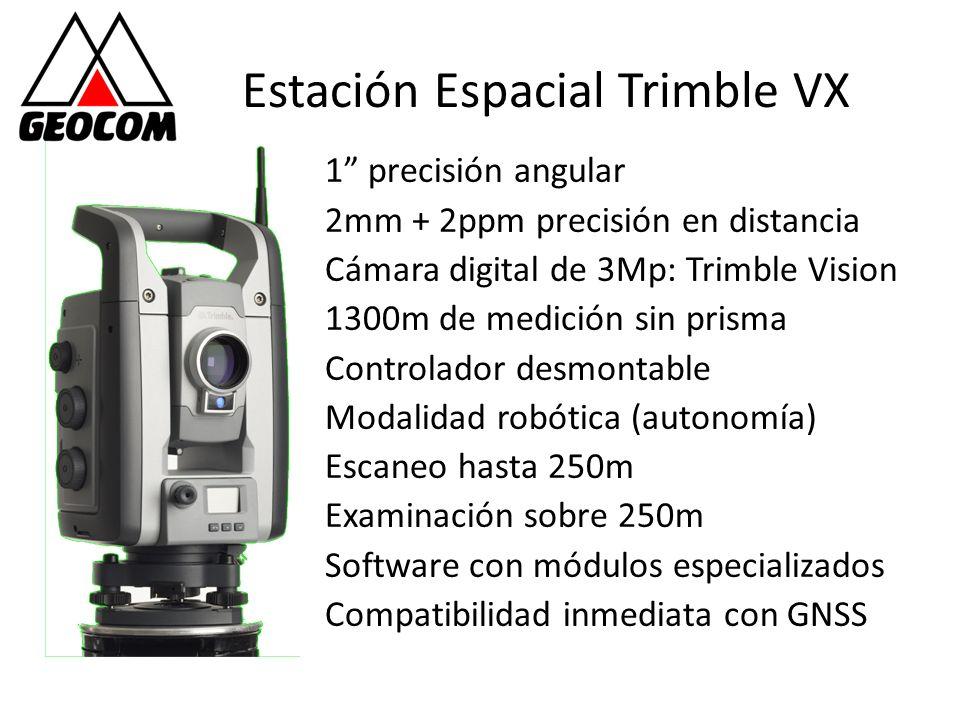 Estación Espacial Trimble VX 1 precisión angular 2mm + 2ppm precisión en distancia Cámara digital de 3Mp: Trimble Vision 1300m de medición sin prisma