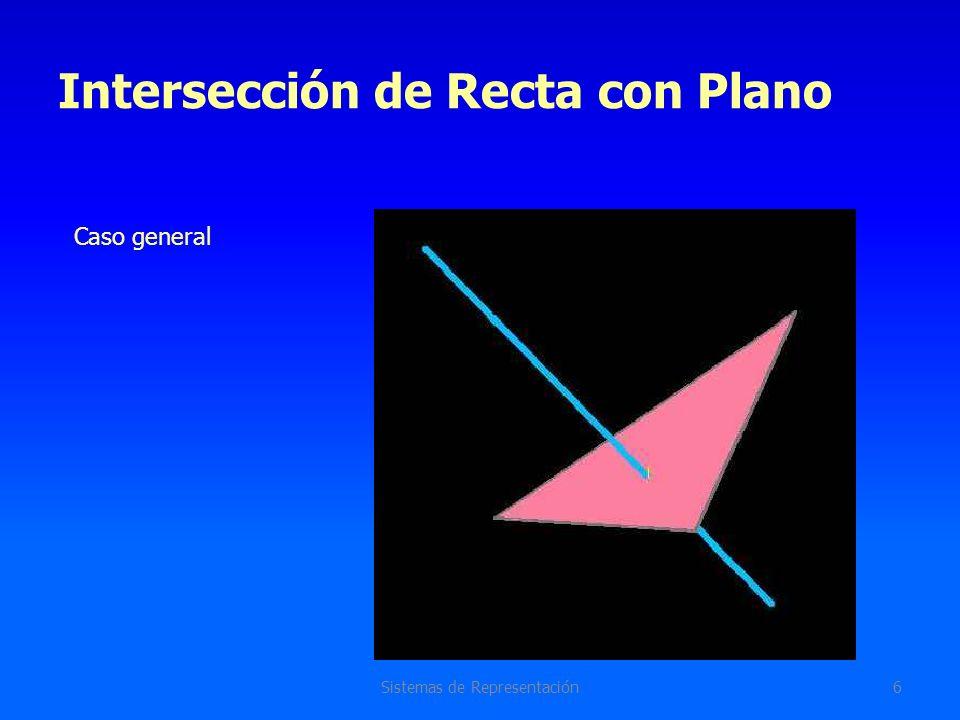 Intersección de Recta con Plano Sistemas de Representación6 Caso general
