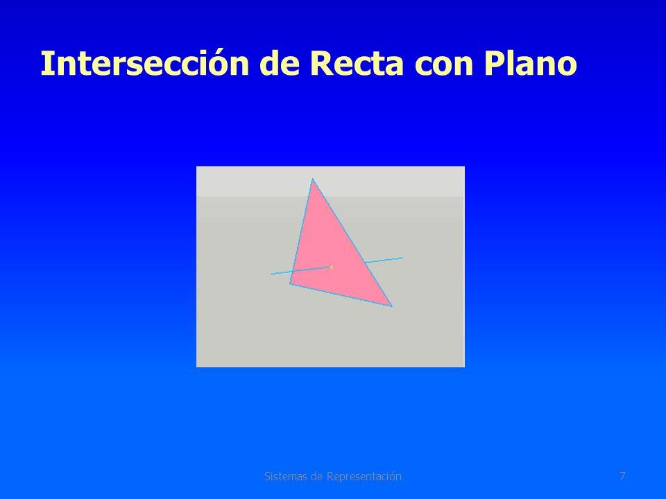Intersección de Recta con Plano Sistemas de Representación8 Caso general