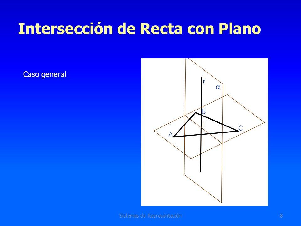 Intersección Recta con Plano Sistemas de Representación9 Sistema diédrico