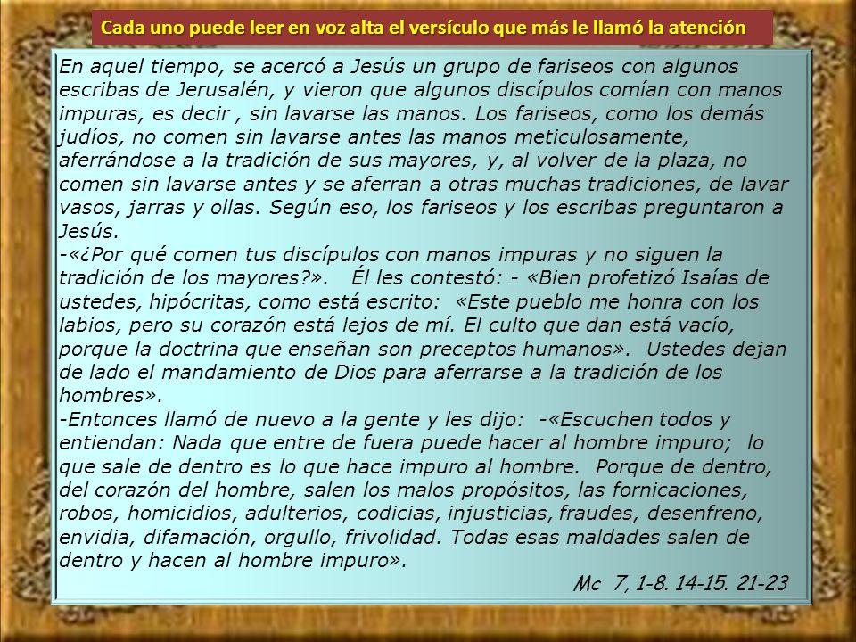21 Porque es de dentro, del corazón del hombre, salen los malos propósitos, fornicaciones, robos, homicidios, 22 adulterios, codicias, injusticias, fr