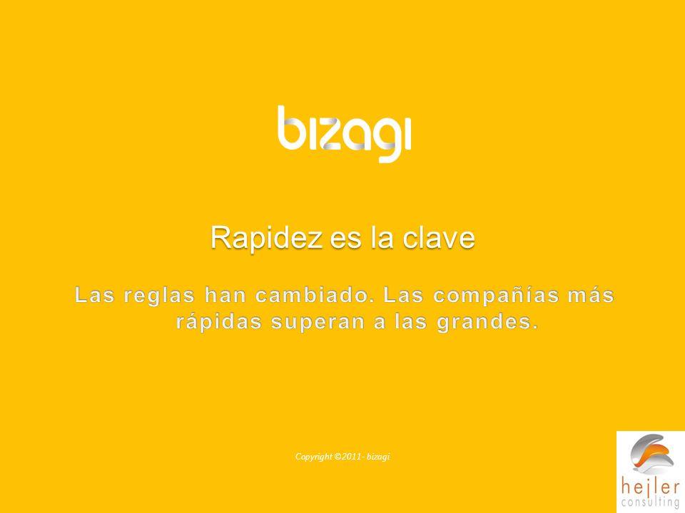 Copyright ©2011- bizagi Rapidez es la clave