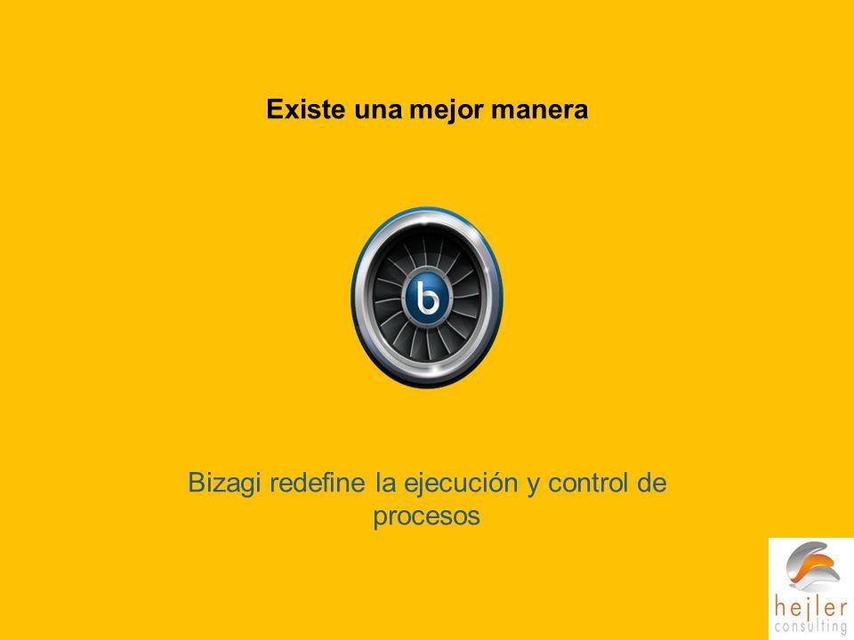 Bizagi redefine la ejecución y control de procesos Existe una mejor manera