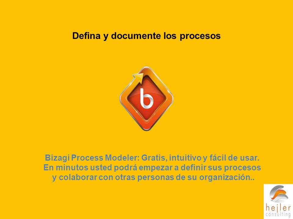 Bizagi Process Modeler: Gratis, intuitivo y fácil de usar.