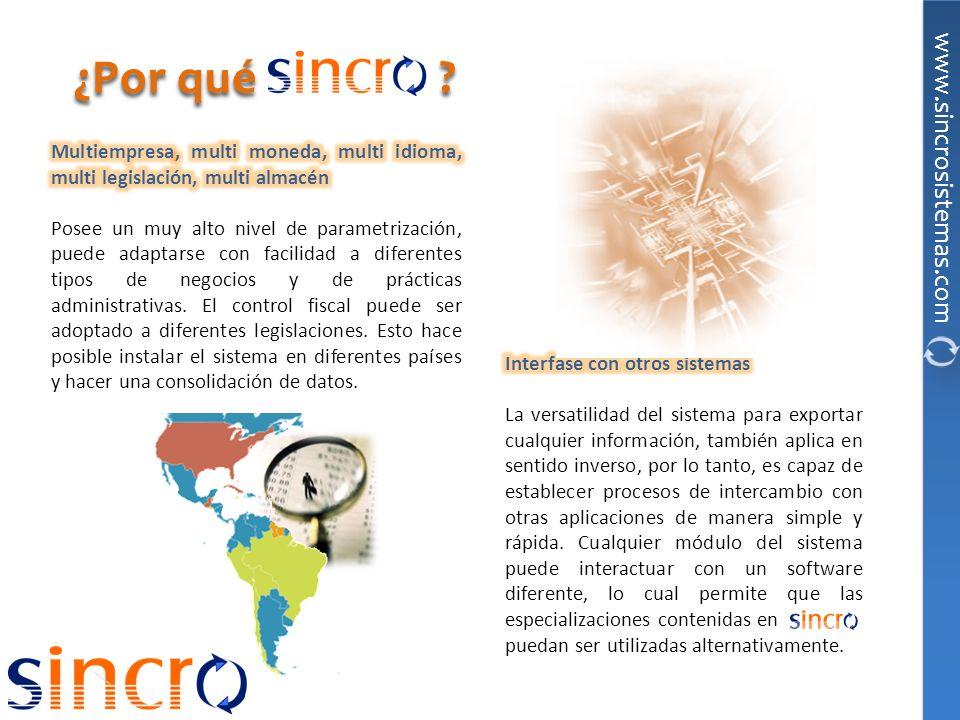 www.sincrosistemas.com ¿Por qué ?